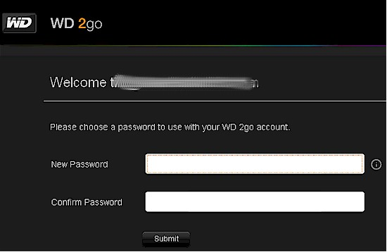Web account password creation