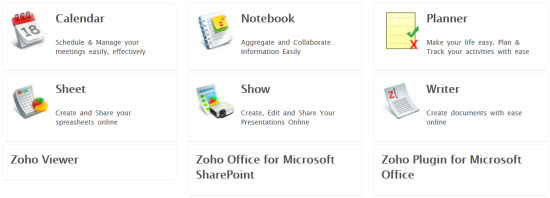 Zoho Productivity Features