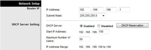 Downstream router IP address set to new subnet
