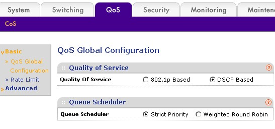 QoS Global Configuration
