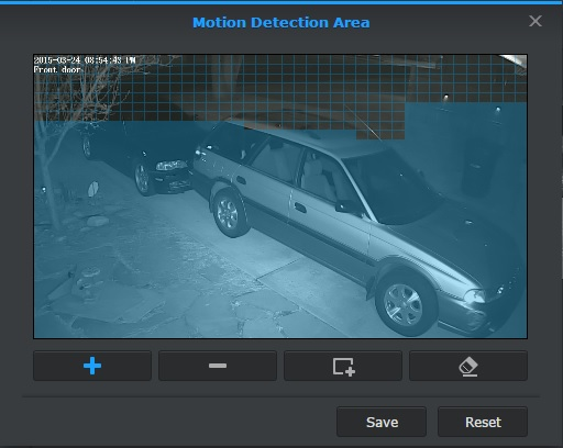 Surveillance Station Motion Detection Area (grid)
