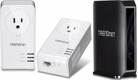 TRENDnet TPL-421E2K powerline adapters and TEW-824DRU AC1750 router