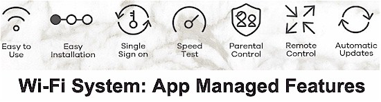 Wi-Fi Systems use app-based management