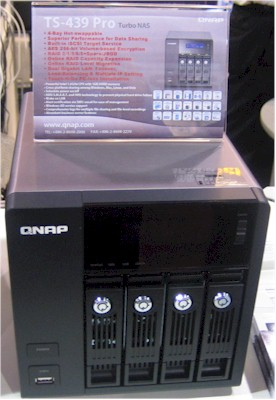 Atom-powered QNAP TS-439 Pro
