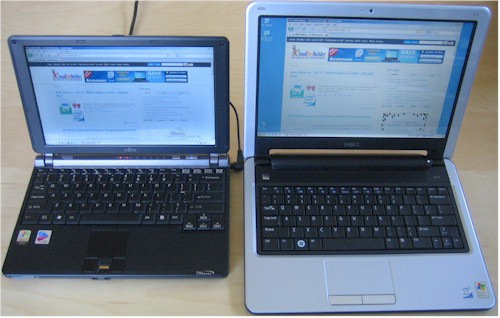 Fujitsu P7120 and Dell Mini 12