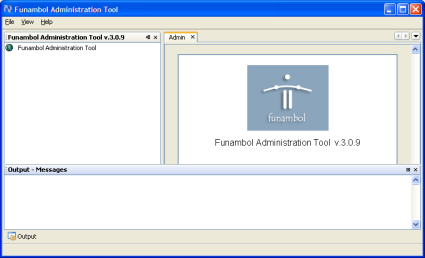 Funambol Administration Tool panel