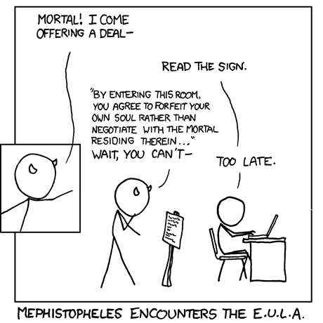 Mephistopheles encounters the EULA