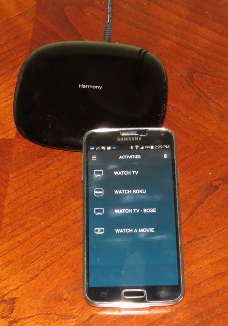 Harmony Home Hub and Samsung S5