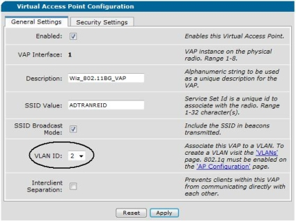 Assigning the AP to a VLAN