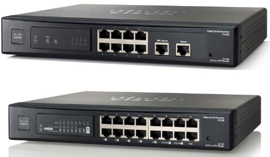 Cisco RV082 and RV016 v3 VPN Routers