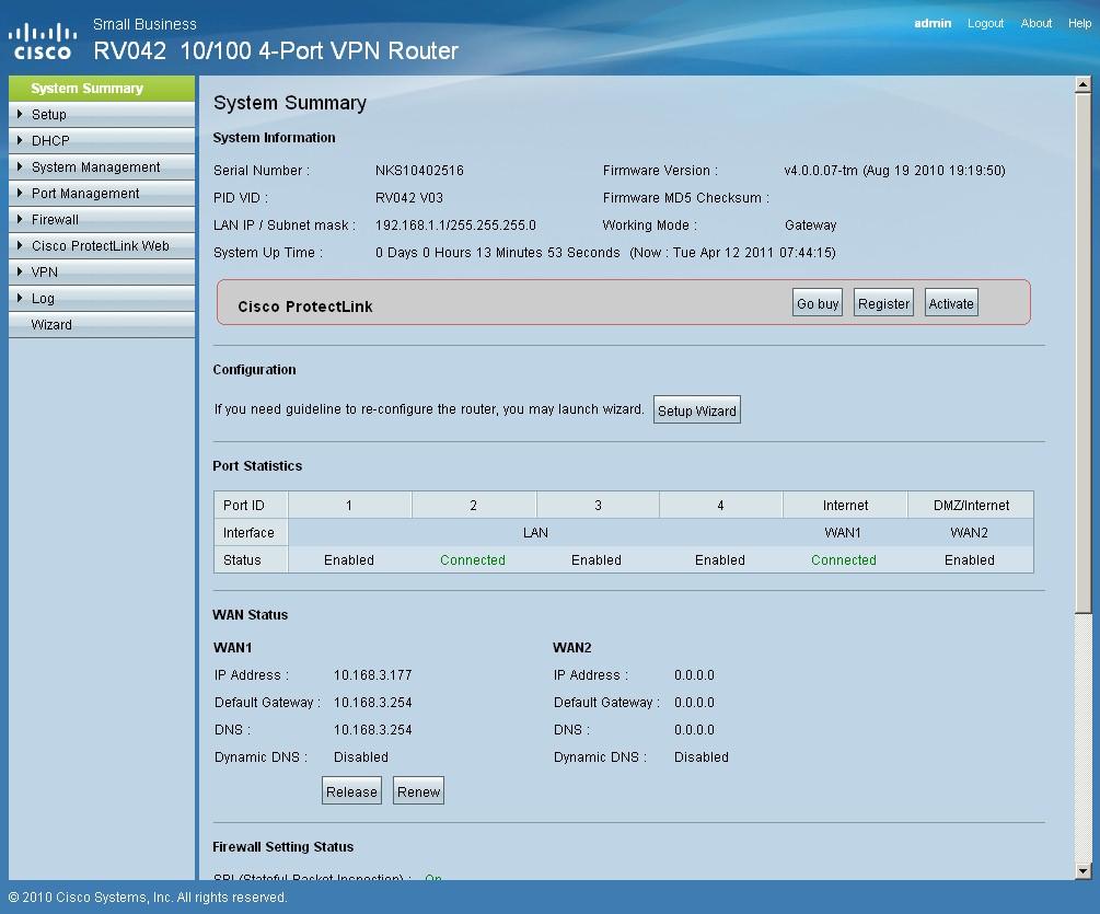 cisco rv042 v3 dual wan vpn router reviewed smallnetbuilder rh smallnetbuilder com RV042 Lights rv042 user guide