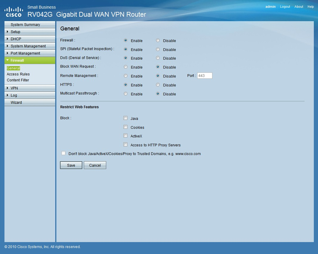 Cisco RV042G Dual Gigabit WAN VPN Router Reviewed - SmallNetBuilder