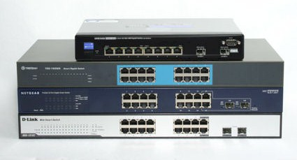 Four smart gigabit switches