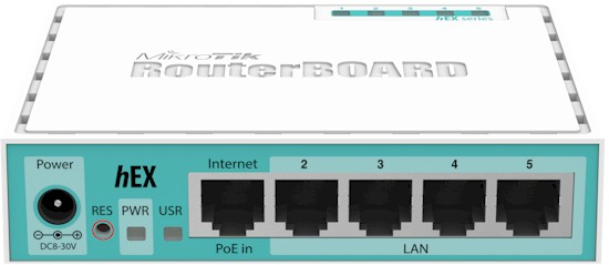 hEX 5-port Ethernet Gigabit Router