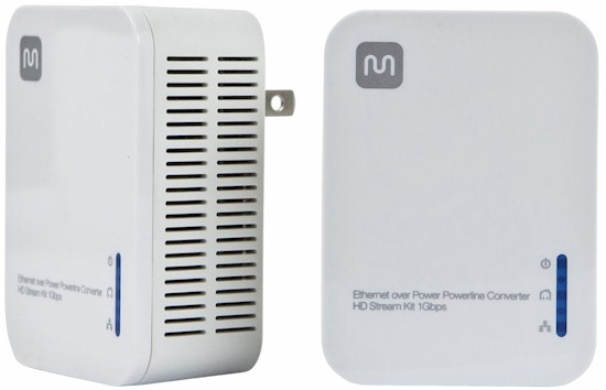 Ethernet over Power Powerline Converter - HD Stream Kit 1Gbps