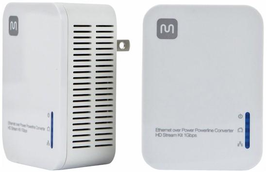 Ethernet over Power Powerline Converter - HD Stream Kit 1Gbps