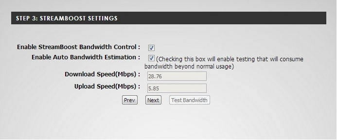 WAN speed sampling in the setup wizard