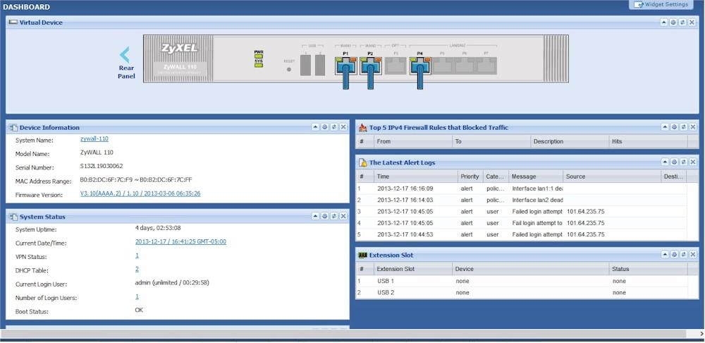 ZyXEL ZyWALL 110 VPN Firewall Reviewed - SmallNetBuilder