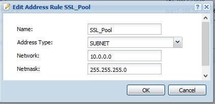 SSL Address Pool