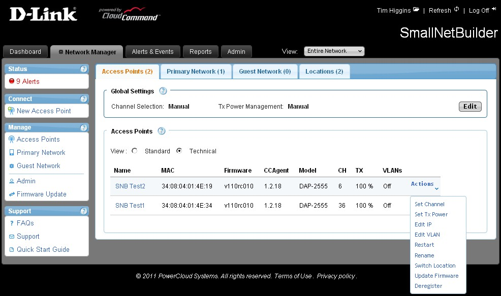 CloudCommand Network Manager Technical view