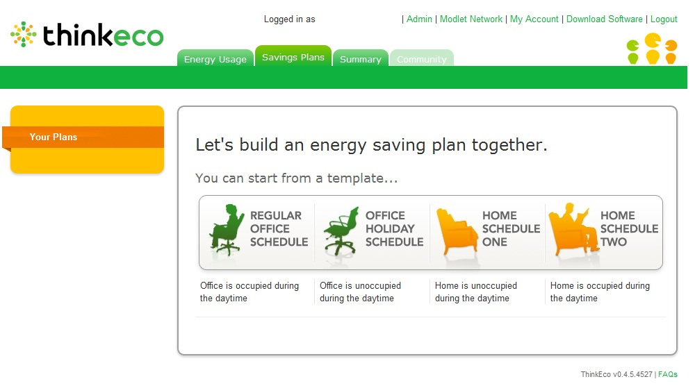 mymodlet.com Savings Plan templates