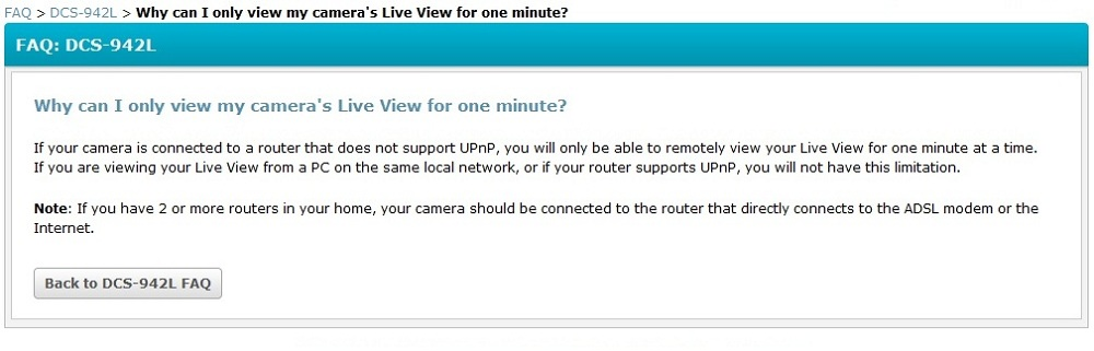 mydlink.com live video time limit without uPnP enabled