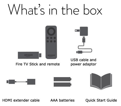 What's in the box - Fire TV Stick