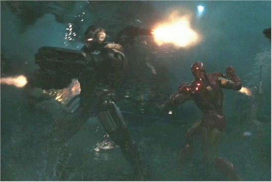 IronMan2 Battle Scene