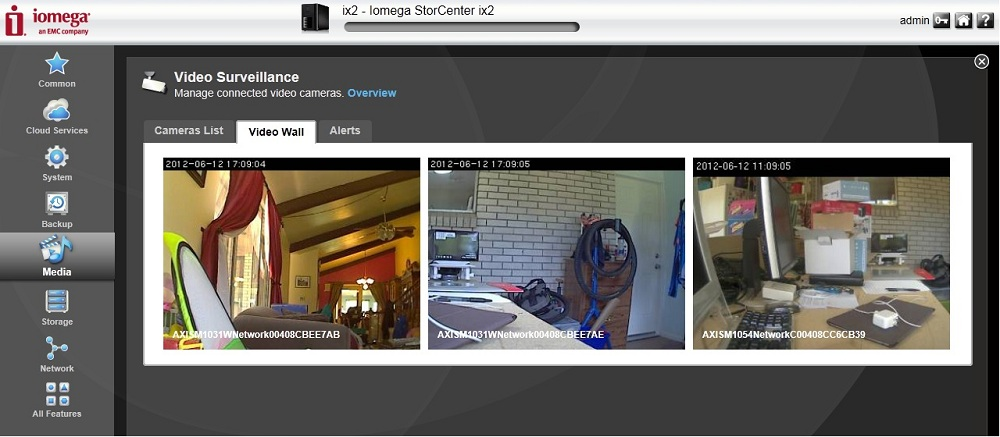 Video Wall of the built-in Video Surveillance software