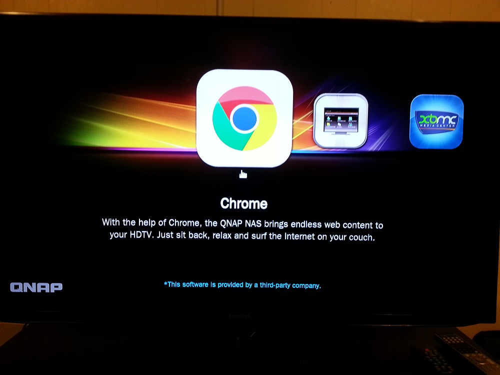 Google Chrome on the QNAP HD Station