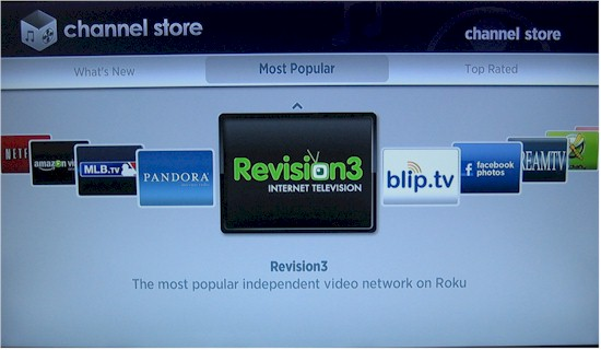 Roku Channel Store - on player