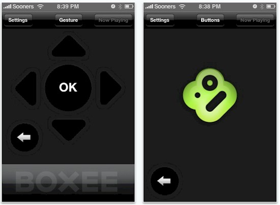 iPhone / iTouch Boxee remote app