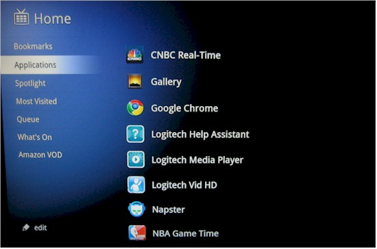 Some of Google TV's apps
