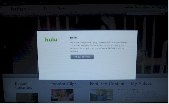 No Hulu for you, Google TV!