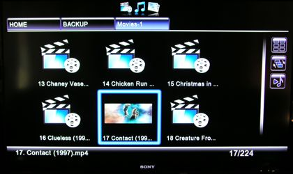 Movie navigation from the local disk