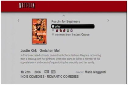Netflix movie selection