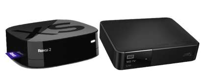 WD TV Live vs. Roku 2 XS