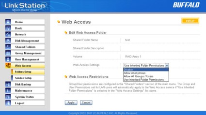 Web access restrictions