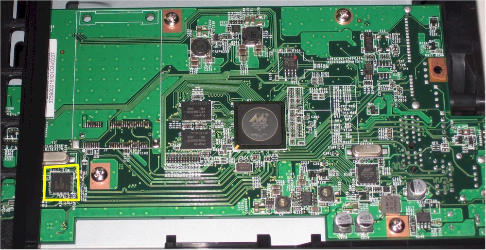 View of the Linkstation 421e board