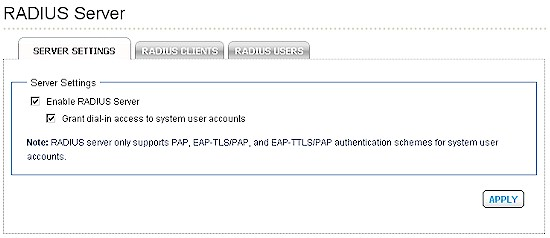 Cisco NSS300 RADIUS settings