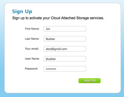 Setting up a cloud-storage account at CTERA