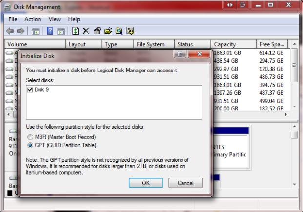 Windows Disk Management Tool
