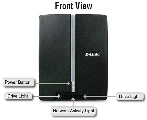 D-Link DNS-321 Front panel