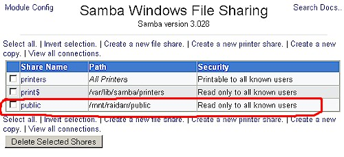 File share created