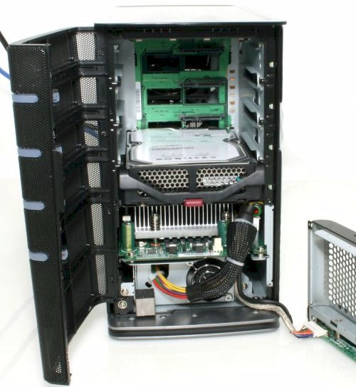 Partially disassembled MediaSmart Server
