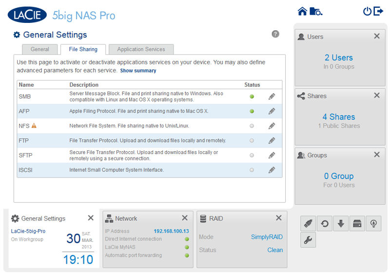 LaCie 5big NAS Pro Reviewed - SmallNetBuilder - Results from #1