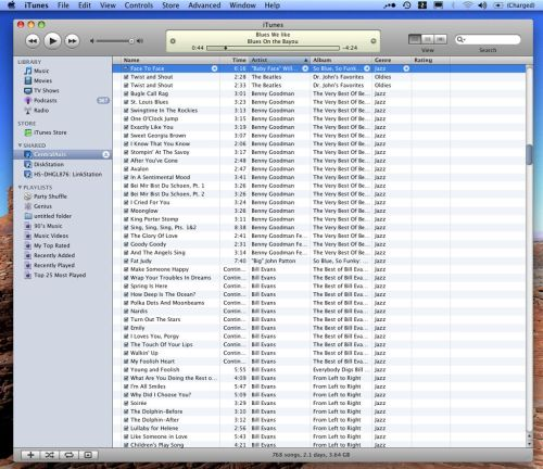iTunes connected to Central Axis