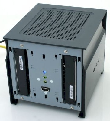 Netgear Stora with front panel removed