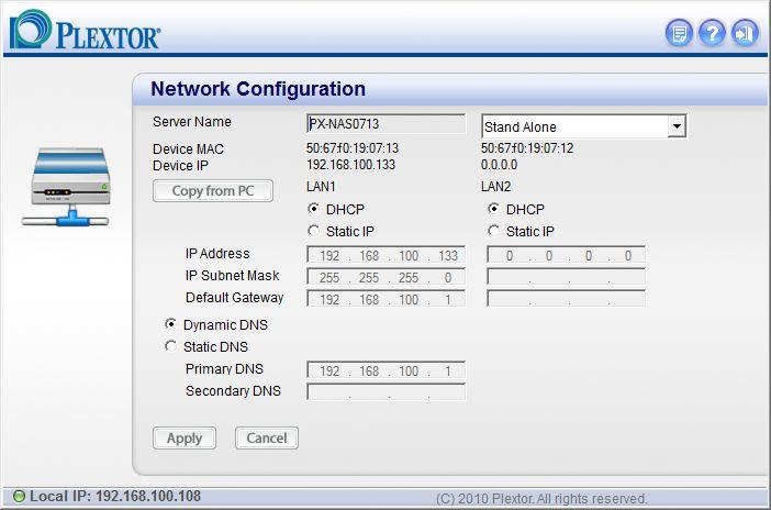 Plextor PX-NAS4 Reviewed - SmallNetBuilder