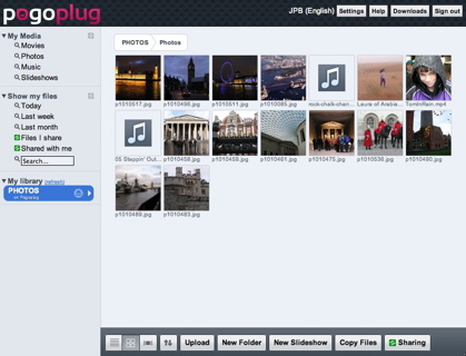 Pogoplug Photo Directory
